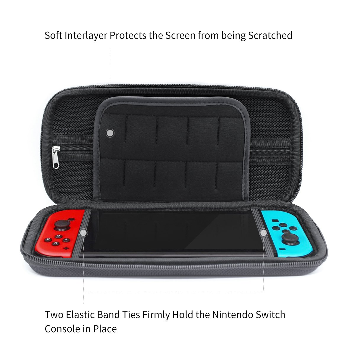 Lislim Carry Case for Nintendo Switch with 20 Cartridge Game Holders