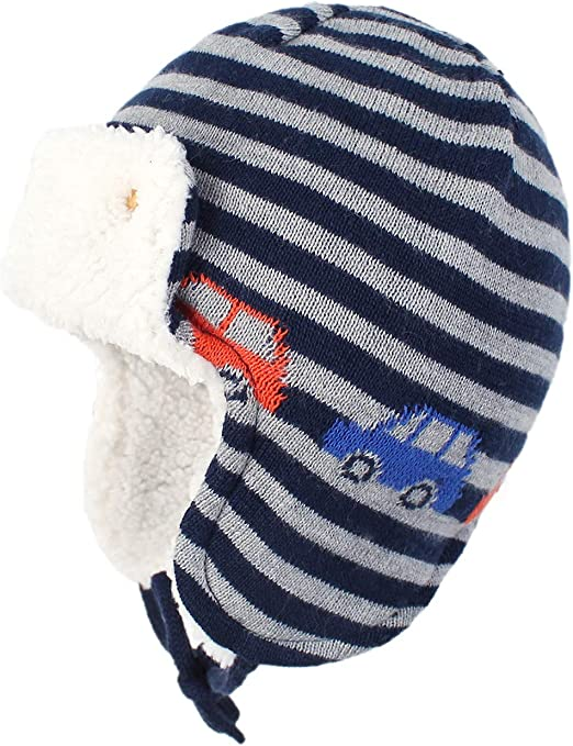 Hudson Baby Infant and Toddler Fleece Trapper Hat and Mitten Set