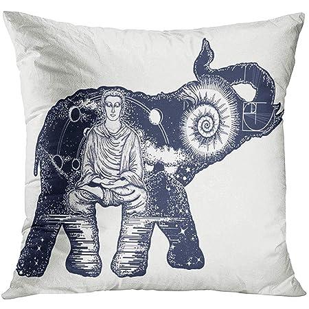 Starowas Funda de Almohada con diseño de Elefante y Tatuaje de ...