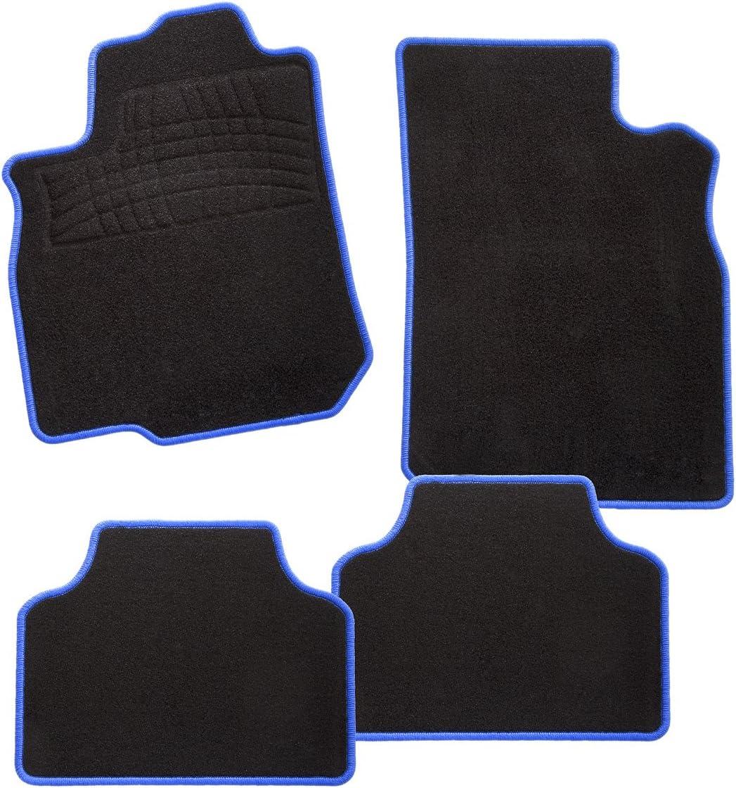 CarFashion 243976 Juego de alfombrillas Azul 4/piezas