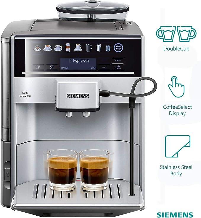 Siemens TE603201RW Cafetera expresso automática, 1500 W, 71 cups ...