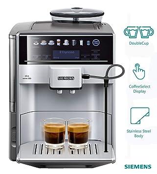 Siemens TE603201RW Cafetera Expresso automática, 1500 W, 71 Cups, Negro, Acero Inoxidable: Amazon.es: Hogar