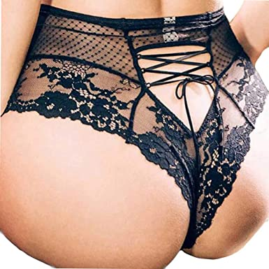 89749d331ad6 Mjjsk Women Sexy Plus Size Bowknot G-String Lace Sexy Hollow Crotchless  Knickers Everyday Panties Thongs (XL, Black): Amazon.co.uk: Clothing