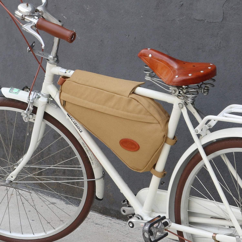 tourbon lienzo piel Triángulo bicicleta marco bolsa bicicleta ...