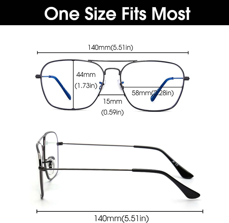 JM Occhiali Computer a Blocco Luce Blu Occhiali da Vista Quadrati Proteggono Occhi Anti-riflesso Uomo Donna