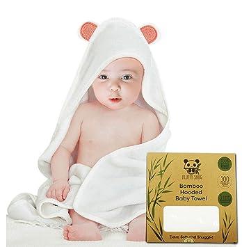 Organic Bamboo Hooded Baby Bath Towel Super Soft Cute Large   Absorbent  Infant   Toddler Bathrobe 303d818de