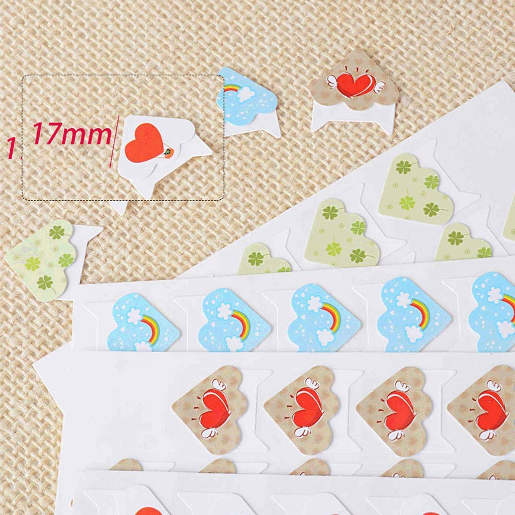 Poualss 480 Pieces Self-Adhesive Photo Corner,Colored Photo Stickers Assembly Paper Corner Stickers for Scrapbook Photo Album