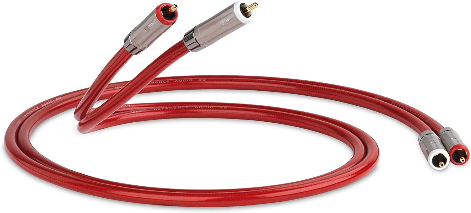 QED Performance Audio 1 Analogue Interconnect RCA Hi-Fi Stereo Cable 1.0 m pair