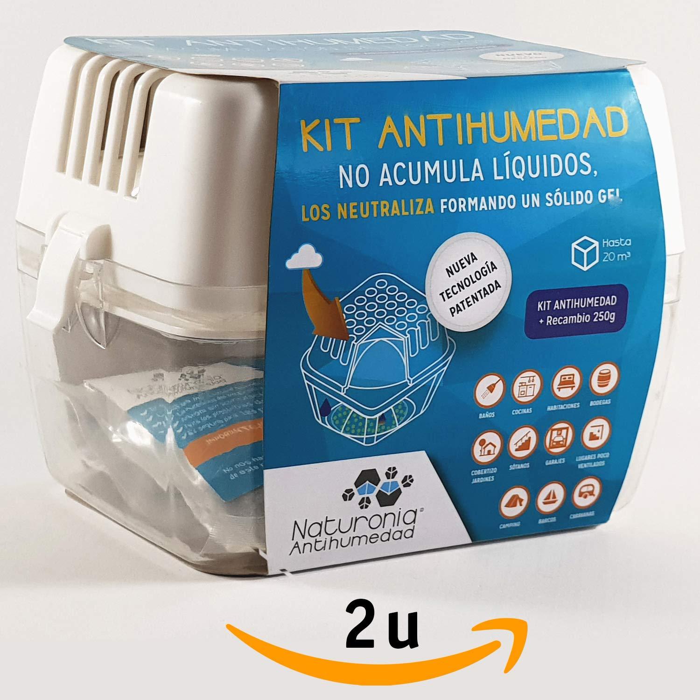 Dispositivo Antihumedad Bolsa 250gr SMART GEL para Armarios Habitación Cajones Ropa Evita Olor Humedades Antimoho - No Acumula Liquidos.