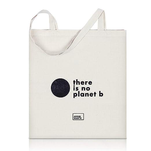 avoid waste - bolsa reutilizable de algodón premium bolsa de tela de yute con asas largas bolsa de compra respetuoso con el medio ambiente con ...