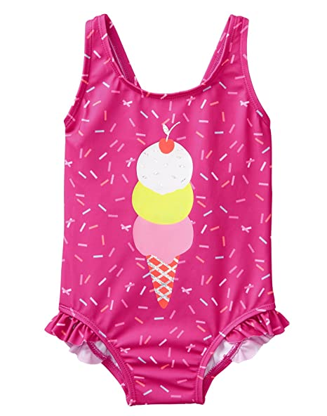 Amazon.com: Gymboree bebé niñas – traje de baño con lazo ...