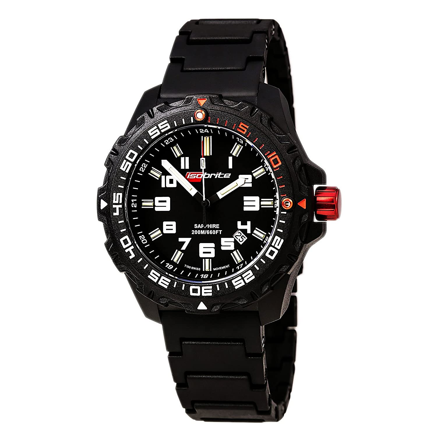 T100 Super Bright 200m ISOBrite Dive Watch By ArmourLite PU Band