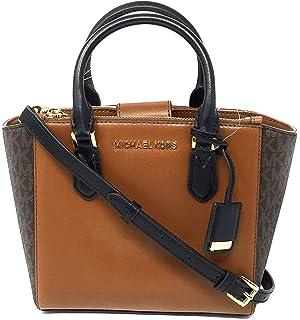 267277d2fa63 Michael Kors Women s Carolyn Small Leather Tote Crossbody Bag Purse Handbag