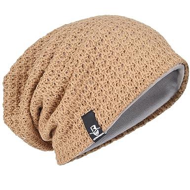 05d228fc96 Men Oversize Beanie Slouch Skull Knit Large Baggy Cap Ski Hat B08