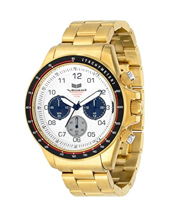 Vestal Mens ZR2024 ZR-2 Analog Display Japanese Quartz Gold Watch