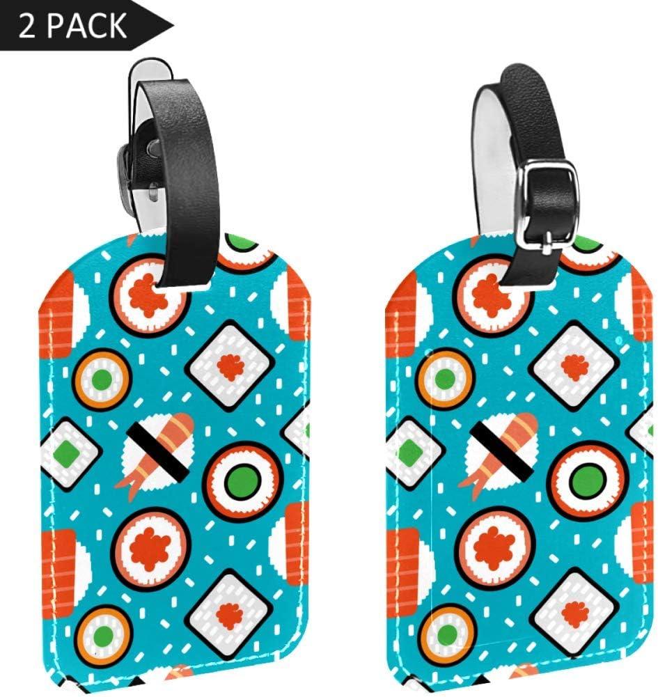 LORVIES - Etiquetas de equipaje tabulares para maletas (2 unidades)