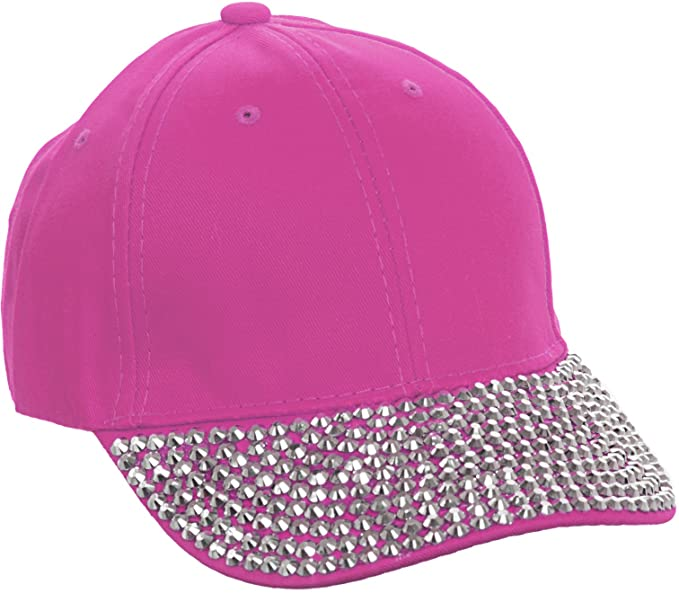 24869d7ca3e Amazon.com  Crystal Case Studded Rhinestone Brim Adjustable Baseball ...