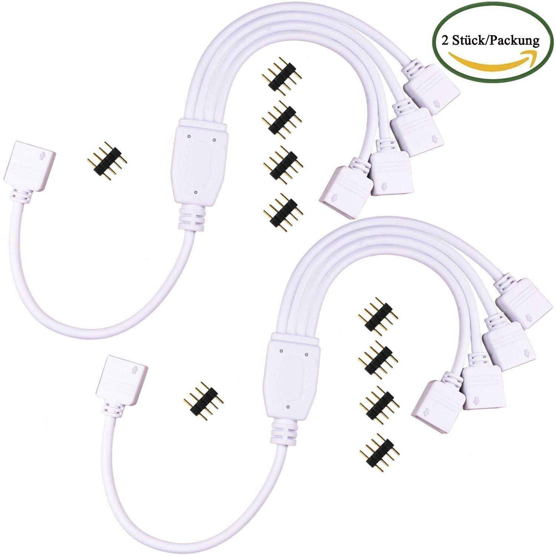 Kabenjee 4 polig RGB LED Splitter Kabel 1 zu 4 Y: Amazon.de: Elektronik
