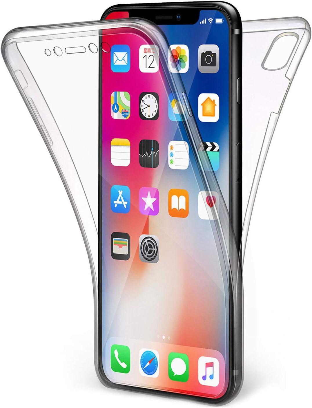 Olixar Flexicover - Custodia per iPhone X trasparente - Protezione a 360 gradi - Olixar Flexicover - Cover anteriore posteriore - Compatibile con ...