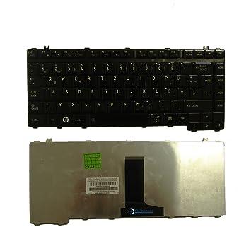 Negro Teclado Alemán QWERTZ para Laptop Toshiba Satellite M505 - Visiodirect - -: Amazon.es: Informática