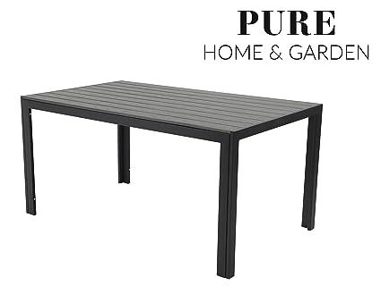 Gartentisch Xxl.Pure Home Garden Aluminium Gartentisch Fire Xxl Mit Polywood Tischplatte 180x90 Absolut Wetterfest Anthrazit Aus Dem Hause