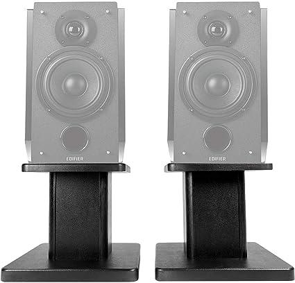"""2 8"""" Black Bookshelf Speaker Stands For Edifier R1850DB Bookshelf Speakers"""