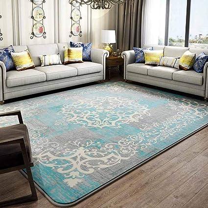 QZ HOME Carpet Nordic Fashion Bedroom Home Comfortable Super Soft Thicken Washable (Color : 1