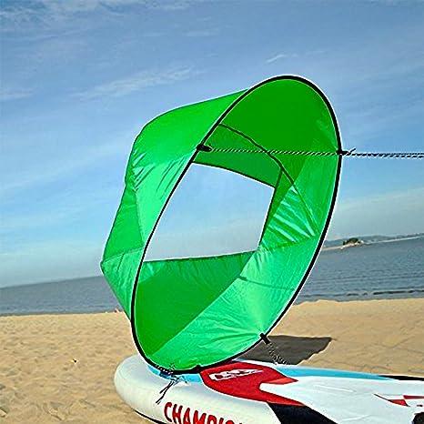 "Durable 42 /""/"" Kajak Boot Wind Sail Sup Paddle Board Sail mit Clear Window+Tasche"