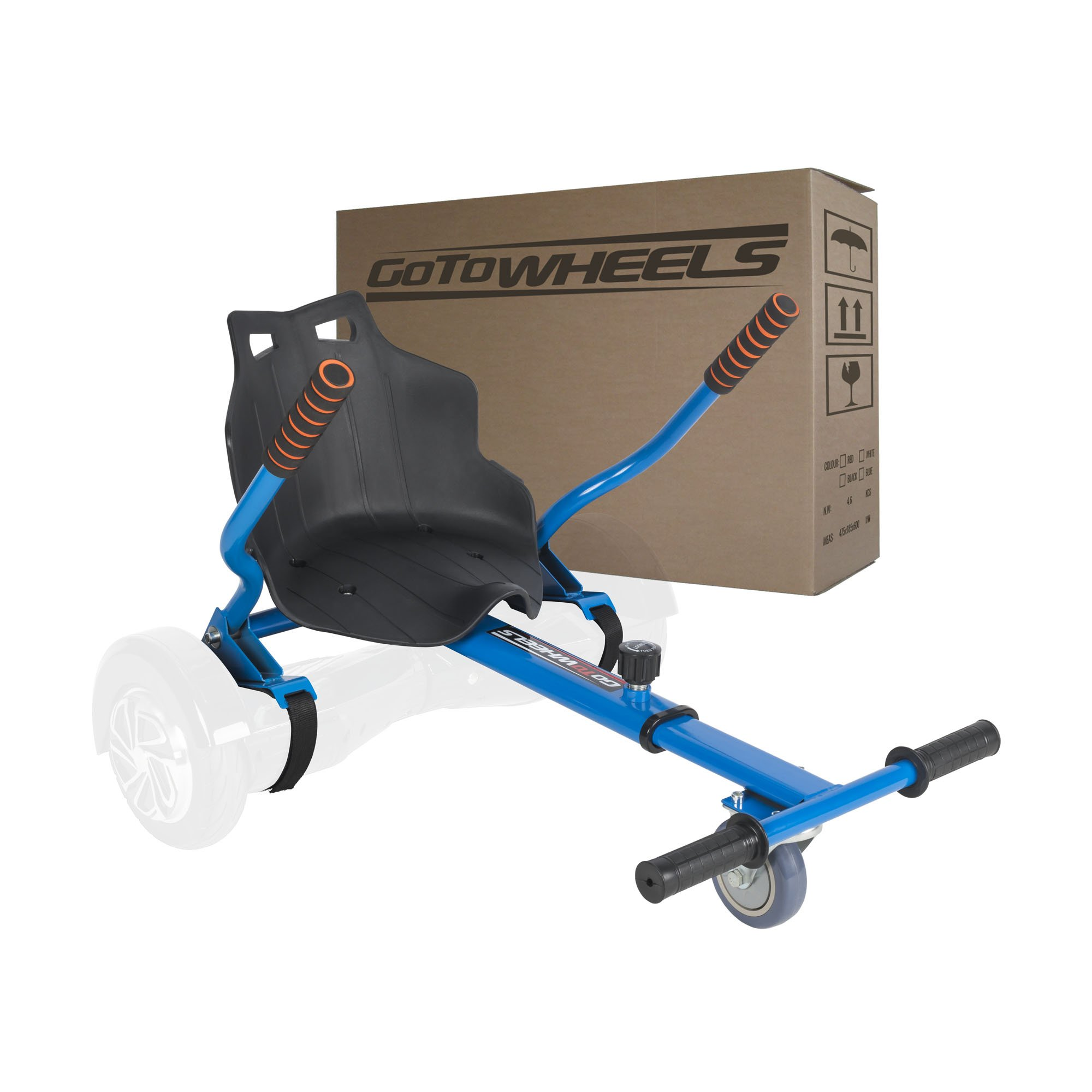 Adjustable Hoverboard Car Style Holder for 6.5'' 8'' 10'' Two Wheel Self Balancing Scooter with 4 Length Adjustments (Balance Board Not Included) (Blue)