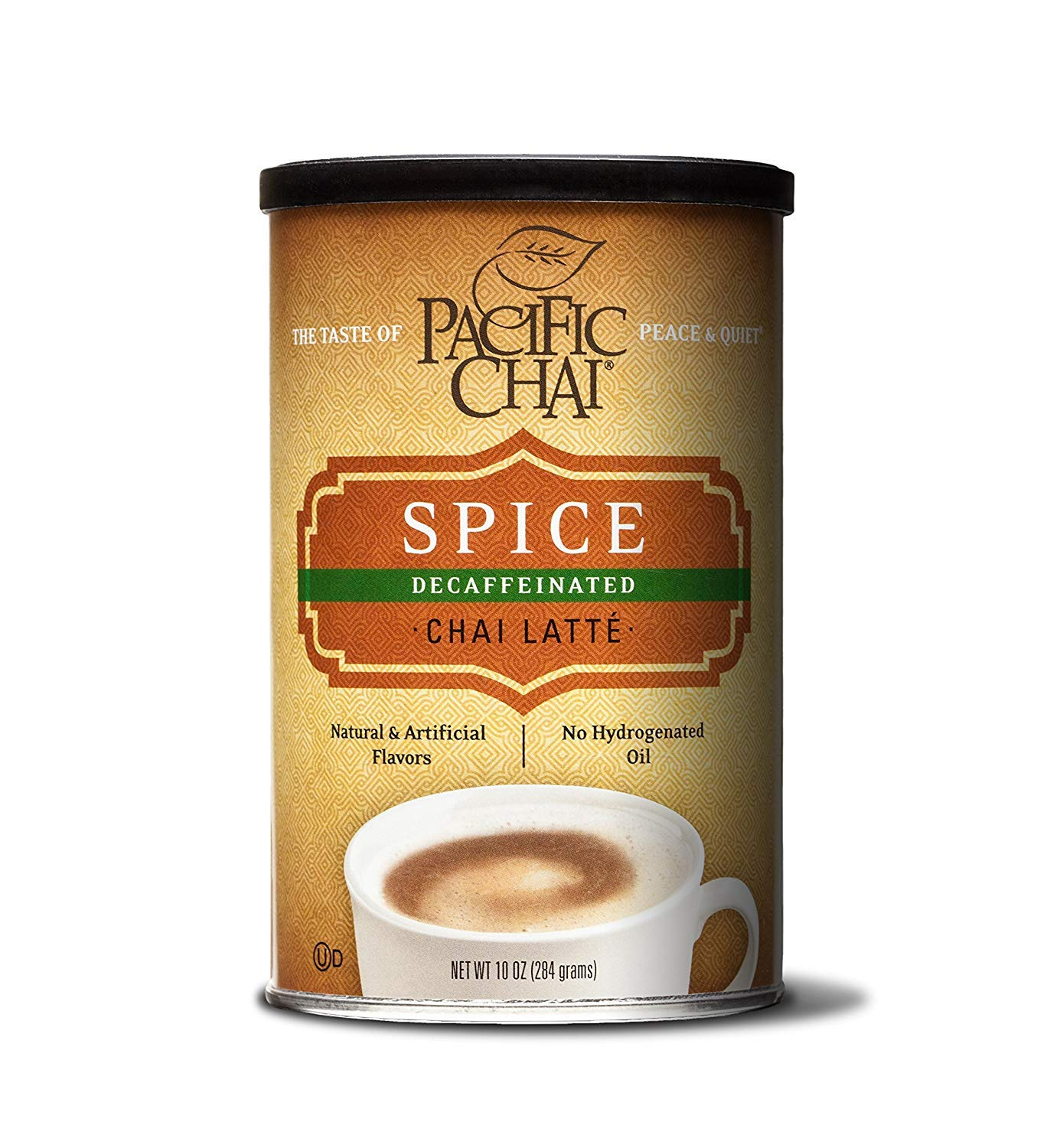Pacific Chai Decaffeinated, Spice Chai Latte Mix, 10 oz Canisters (Pack of 6)