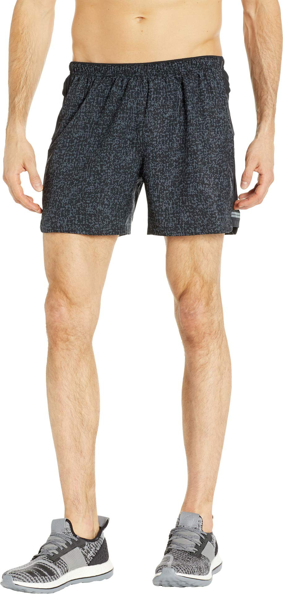 Brooks Men's Sherpa 5'' Shorts Black Static/Black Medium 5 by Brooks (Image #1)