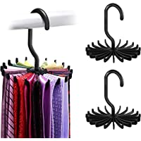 SunTrader 2X Multifunction Non-slip 360 Degrees Rotating Scarf Tie Hanger Rack Organizer