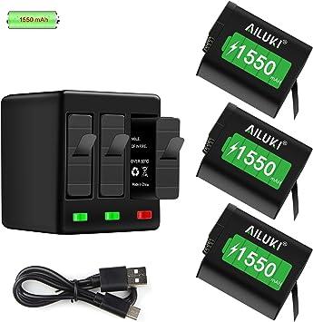 Amazon.com: Ailuki GoPro - Batería recargable (3 unidades ...