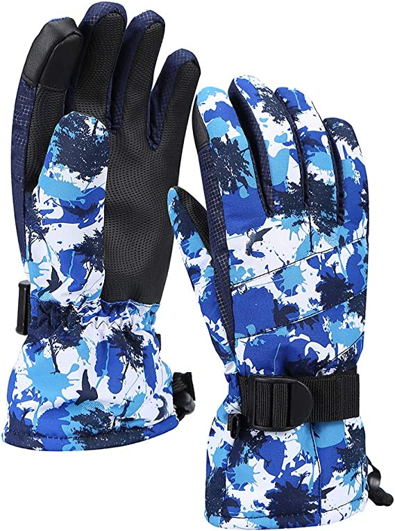 Windproof Ski Gloves Warm Mitts Mittens Gloves for Unisex Warm Outdoor Winter Snow Gloves for Skiing Snowboardin