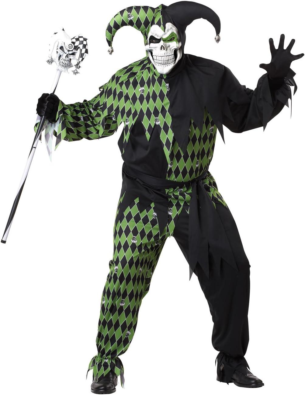 California Costumes - Disfraz De Bufón Malvado/Joker Verde Negro ...