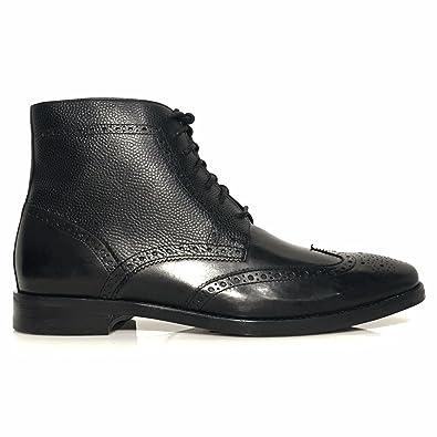 Cole Haan Cambridge Wingtip Men's Grain Leather Dress Boots Black 11 ...