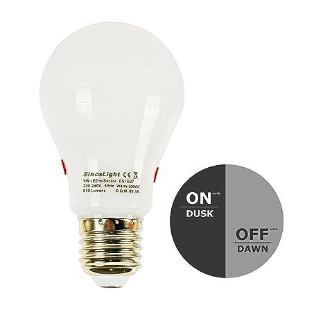 LED Auto On/Off día/noche Sensor Bombilla (from Dusk Till dawm)