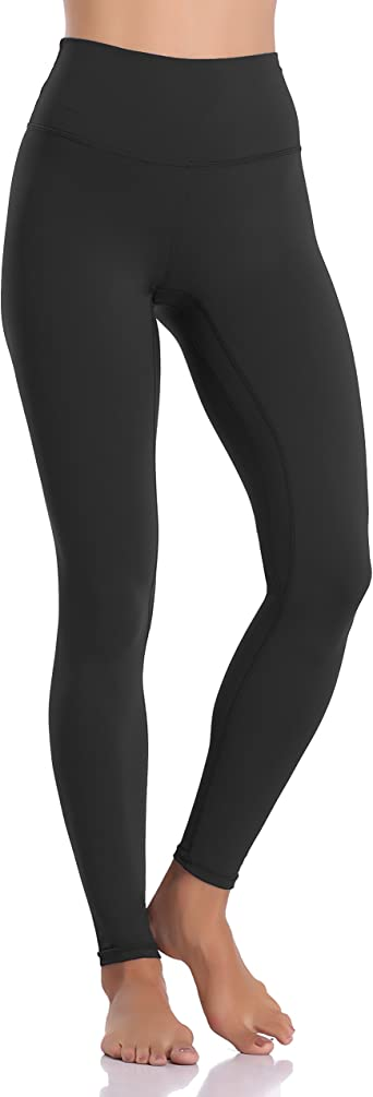 Women/'s Black Yoga Leggings Wide Waist Banded Premium soft Full Length Legging
