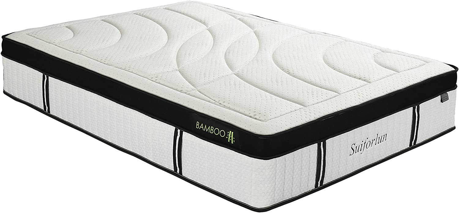 Suiforlun 14 Inch Hybrid Gel Memory Foam and Innerspring Mattress,Full