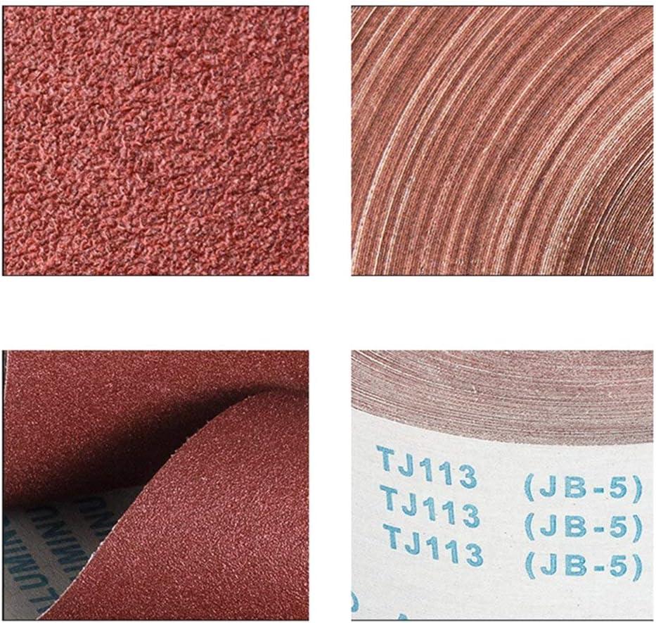 OMAS 10meter 180 Grit Aluminium Oxide Roll Polishing Sandpaper 4 Wide for Grinding Polishing Tools Metalworking for Dremel 95mm