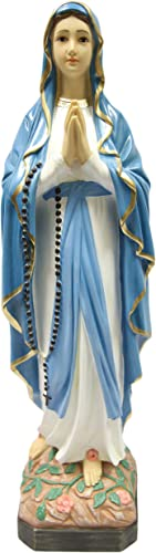 25 Our Lady of Lourdes Blessed Virgin Mary Statue Sculpture Figure Vittoria Collection Made in Italy