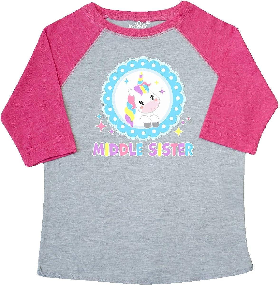 inktastic Middle Sister Cute Unicorn Infant Tutu Bodysuit