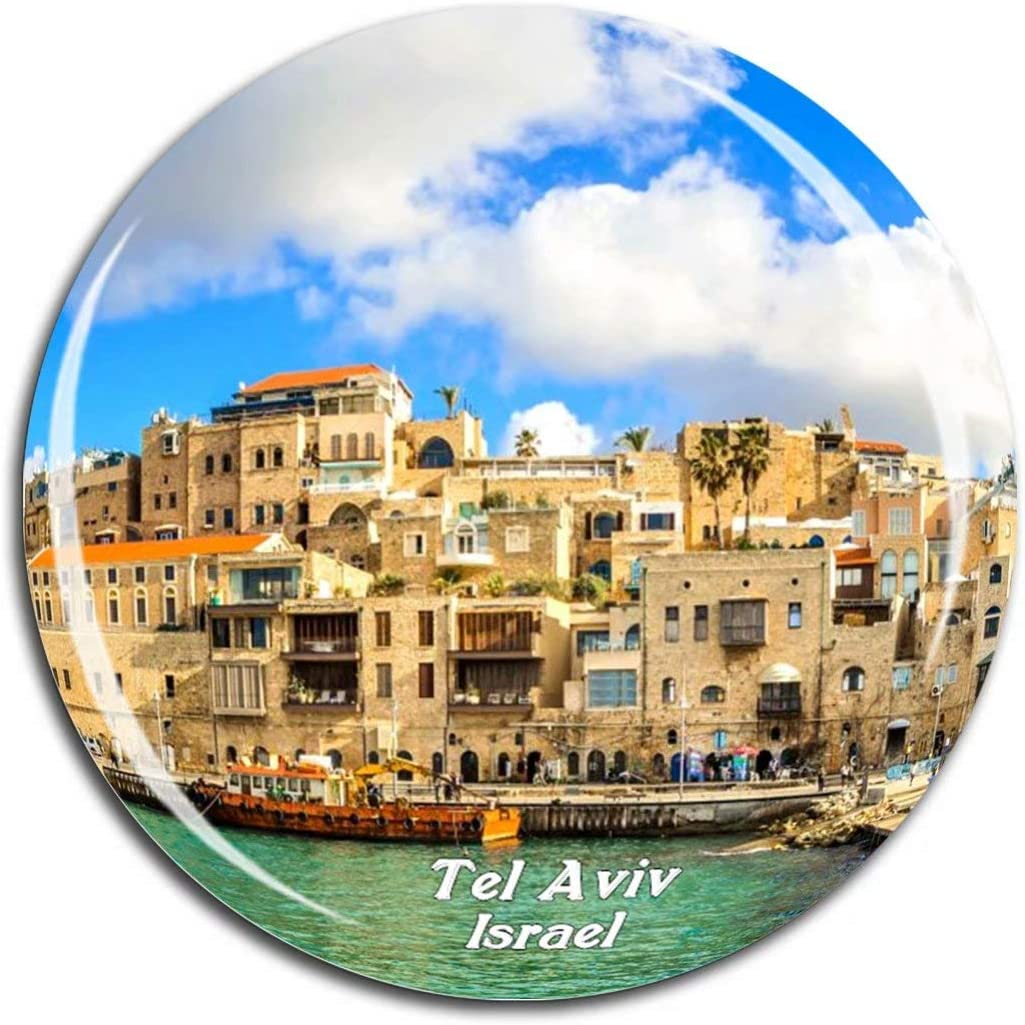 Jaffa Old City Tel Aviv Israel Fridge Magnet 3D Crystal Glass Tourist City Travel Souvenir Collection Gift Strong Refrigerator Sticker