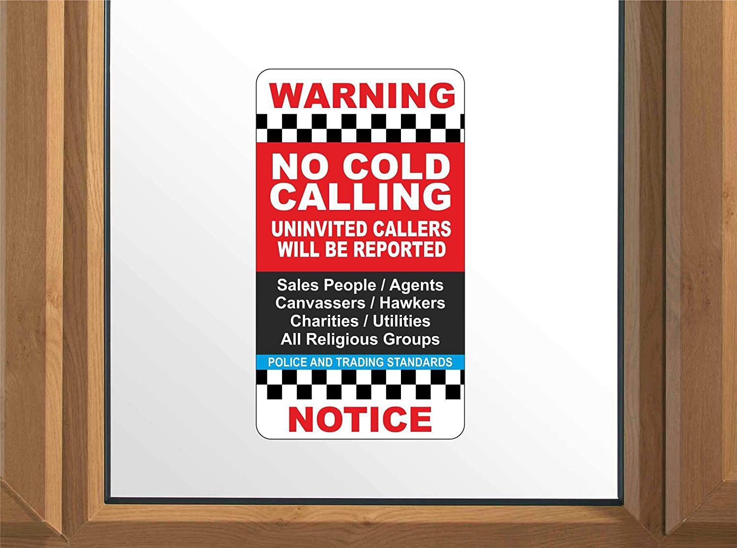 No Junk Mail Letterbox Sticker And No Cold Callers Front Door Sticker Twin Pack