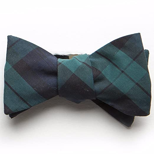 40bd70bb0f57 Image Unavailable. Image not available for. Color: Typewriter Cloth Bow Tie-  Black Watch Tartan