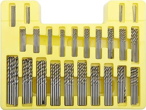 0.3-1.6 mm Premium Quality HSS Twist Drill Bits Set with Box Tiny Micro Drill Bits Kit HSS High Speed Steel Twist Drill Bits Small Drill Bits 20Pcs//Set