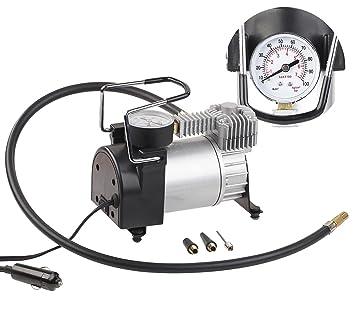 Kanon Lescars Auto Luftpumpe: Mini-Luft-Kompressor mit Manometer, 12 V TN-65