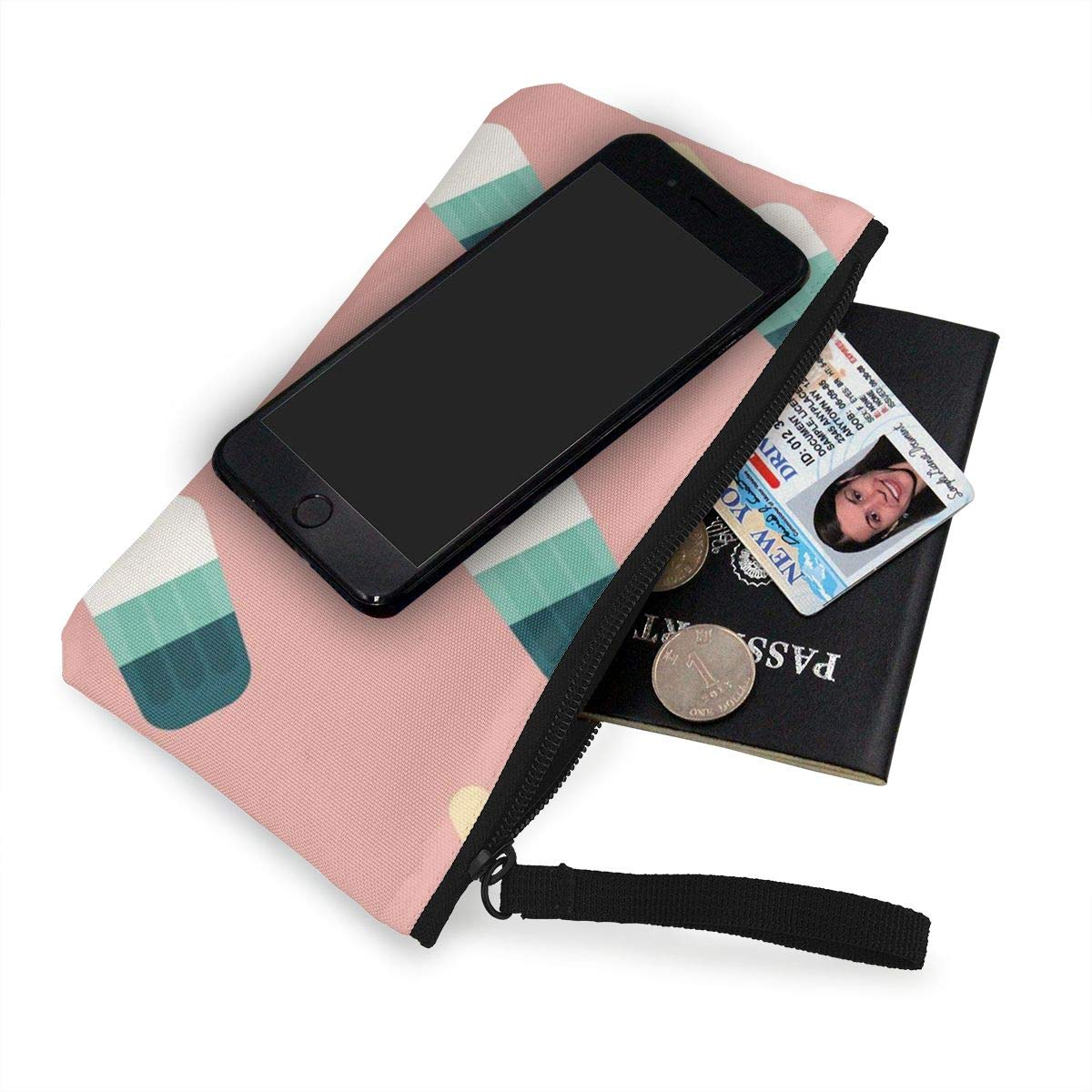 Yamini Three Color Popsicles On A Pink Background Cute Looking Coin Purse Small and Exquisite Going Out to Carry Purse