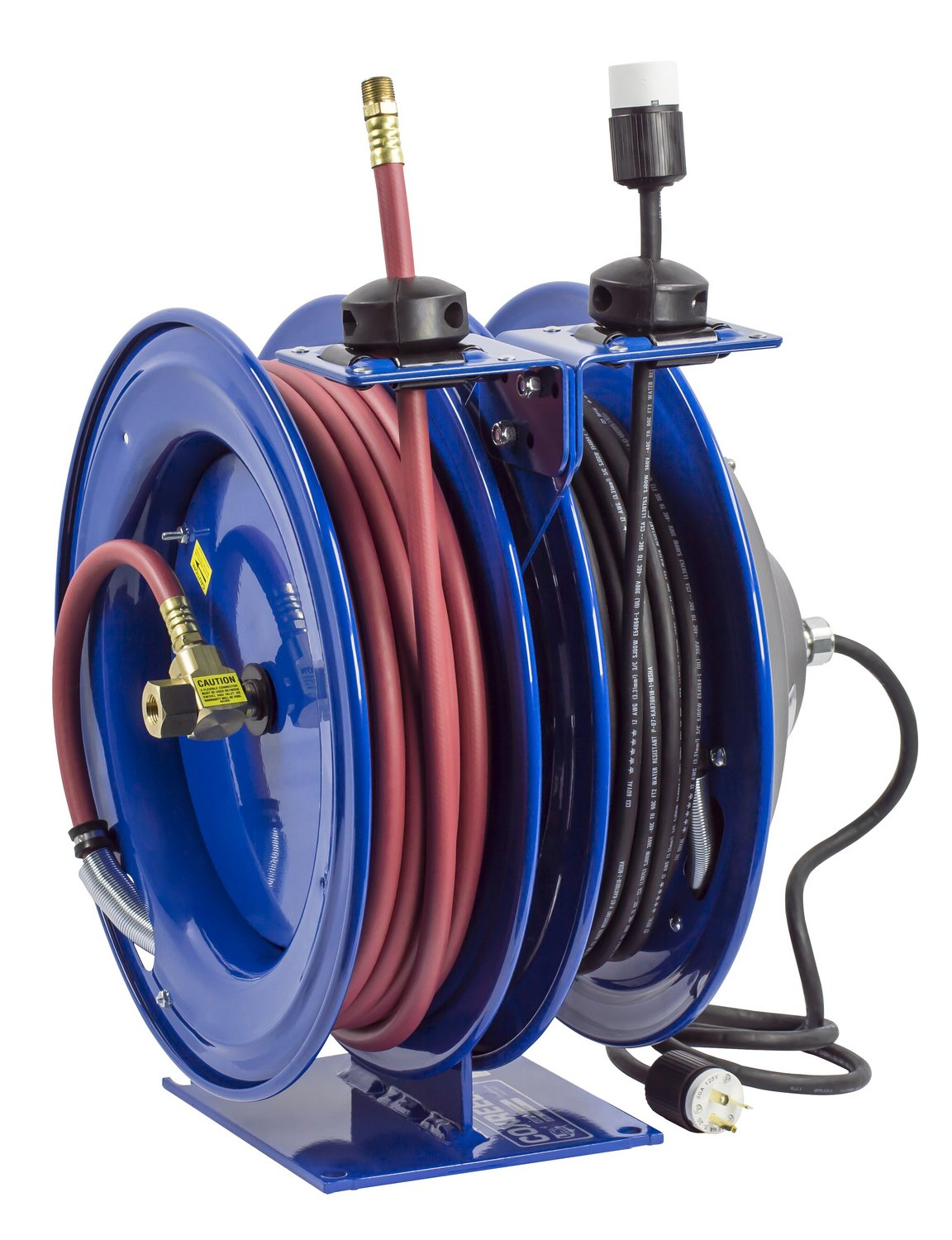 Coxreels C-L350-5012-A Reel, Combination ,Spring Driven, 3/8'' Hose ID, 50' Length