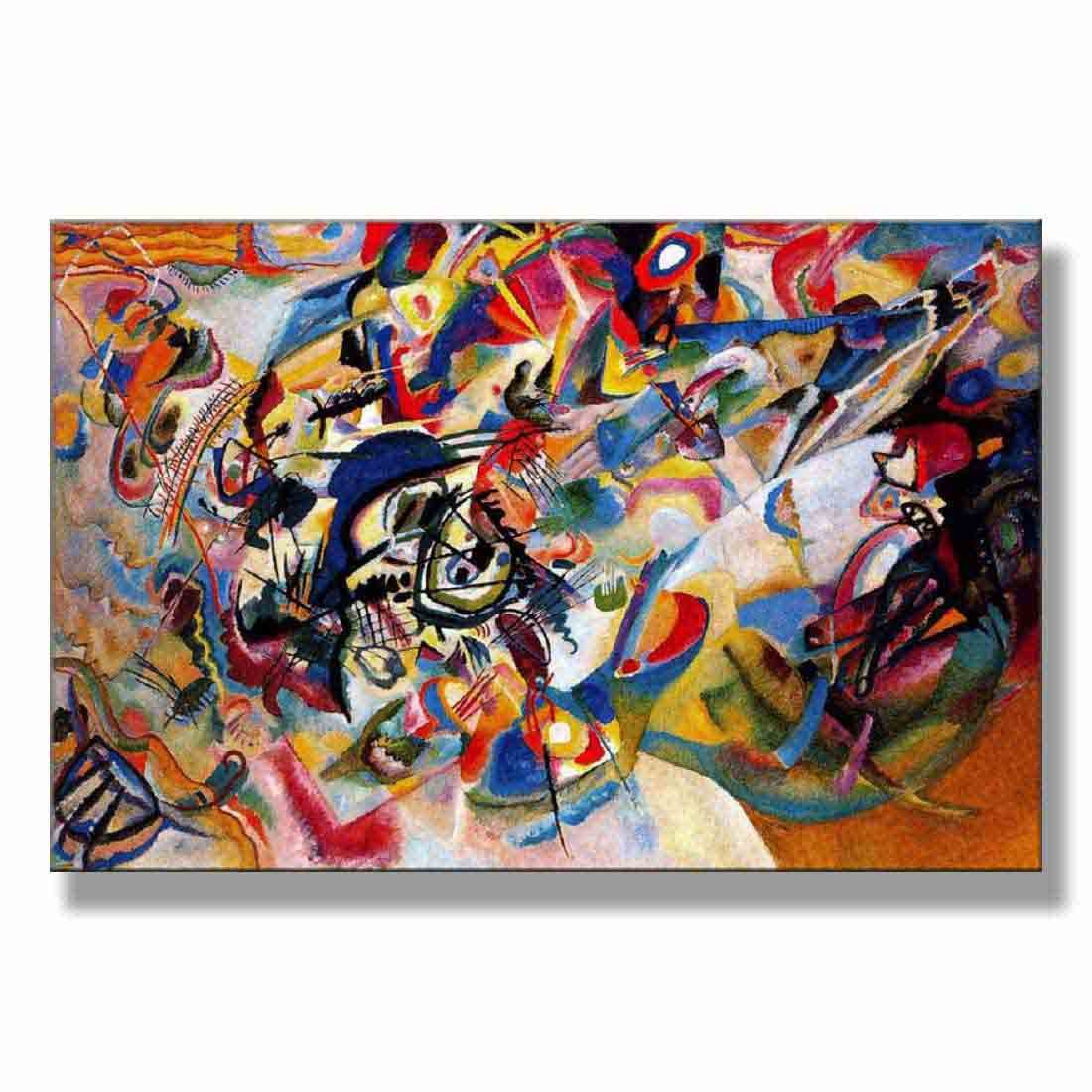 Wassily Kandinsky Composition 7 1913 Original Abstract Canvas Paintings Hand Painted Reproduction Unframed Tablet - 48X32 inch (122X81 cm) for Living Room Bedroom Dining Room Wall Decor To DIY Frame by Neron Art